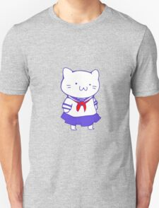 School Girl Kitty Unisex T-Shirt