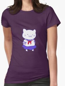 School Girl Kitty Womens Fitted T-Shirt