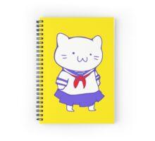 School Girl Kitty Spiral Notebook