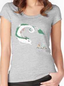 Haku, Rick, and Morty Women's Fitted Scoop T-Shirt