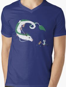 Haku, Rick, and Morty Mens V-Neck T-Shirt