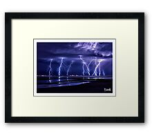 Electric Beach Framed Print