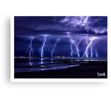 Electric Beach Canvas Print