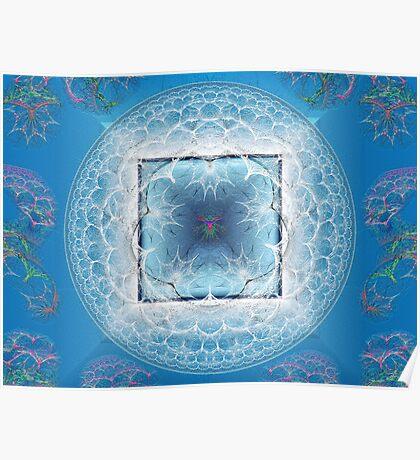 Apo Mandala #4: Crystal on Azure Poster