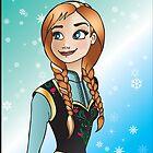 Disney Princesses - Anna by Lauren Eldridge-Murray