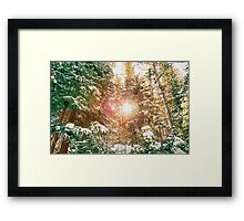 Colorado Rocky Mountain Snow and Sunshine Framed Print
