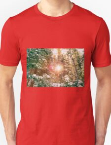 Colorado Rocky Mountain Snow and Sunshine Unisex T-Shirt