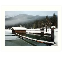 4 times H2O (water,snow,ice and mist) Art Print