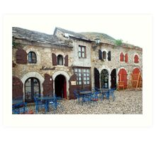 Old street in Mostar Art Print