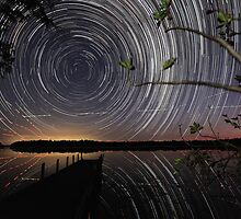 Fig Tree star trails by James Ray