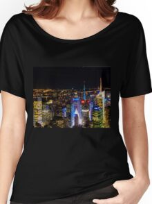 New york night Women's Relaxed Fit T-Shirt