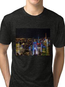 New york night Tri-blend T-Shirt