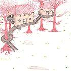 Snowy Treehouse2 by SteveHanna