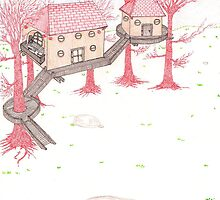 Snowy Treehouse2 by SteveHanna
