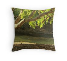 On the banks of The Katherine River  Throw Pillow