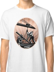Construction Workers Woodcut Retro Classic T-Shirt