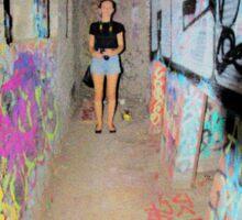 graffiti tunnel Sticker