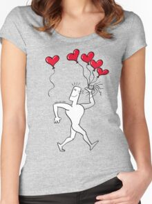 A New Love Balloon is in the Air Women's Fitted Scoop T-Shirt