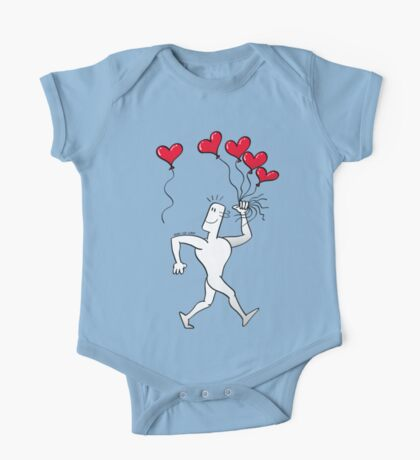 A New Love Balloon is in the Air One Piece - Short Sleeve