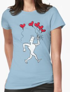 A New Love Balloon is in the Air Womens Fitted T-Shirt