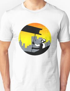 Construction Worker I-Beam Girder Retro Unisex T-Shirt