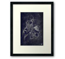 DARK HOCKEY Framed Print