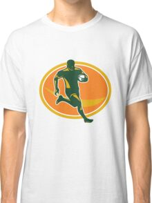 Rugby Player Running Ball Silhouette Classic T-Shirt