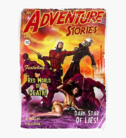 Pulp Adventure Stories: The Red World of Death! Poster