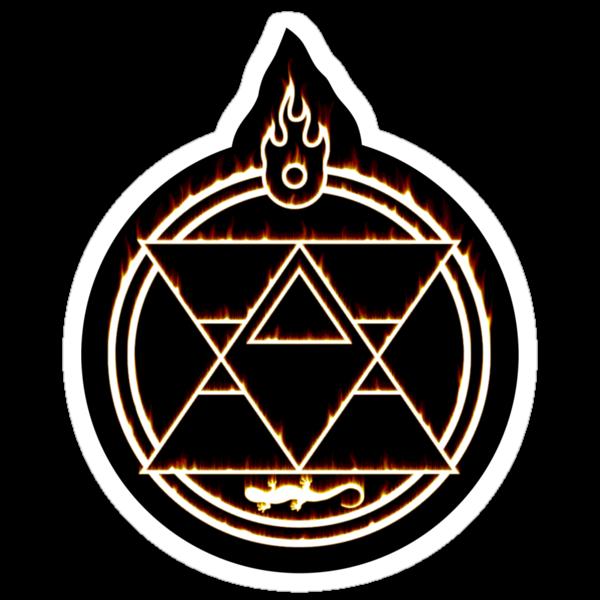 The Flame Alchemist - sticker by R-evolution GFX