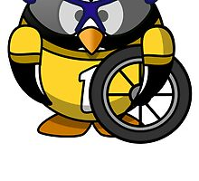 Cyclist Penguin by kwg2200