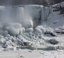 Niagara Falls Ice Buildup - American Falls, New York State, USA by Georgia Mizuleva