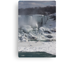 Niagara Falls Ice Buildup - American Falls, New York State, USA Canvas Print
