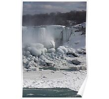 Niagara Falls Ice Buildup - American Falls, New York State, USA Poster