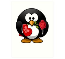 Valentine's Day Penguin Art Print