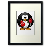 Valentine's Day Penguin Framed Print