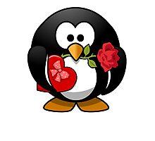 Valentine's Day Penguin Photographic Print