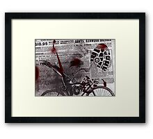 Crime Evidence - Blood and Scissors - Art Prints Framed Print