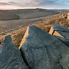 Burbage Rocks Sunset by James Grant