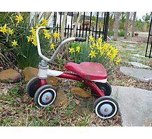 Mama's Tricycle Photographic Print