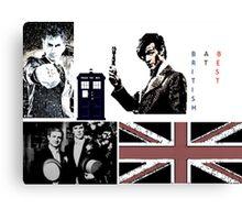 British At Best.  Canvas Print