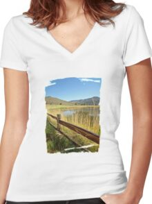 Nevada Wilderness Fences Women's Fitted V-Neck T-Shirt