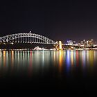 Sydney harbour by night by grampsman