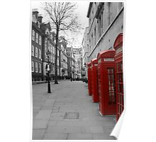 London Telephone Booths Poster
