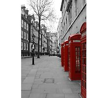 London Telephone Booths Photographic Print