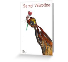 VALENTINE HARE IN LOVE Greeting Card