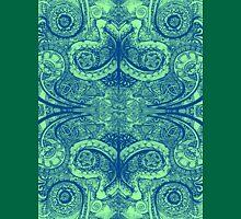Floral Paisley Mirrored Celtic Designs Unisex T-Shirt