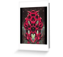 Biomechanical Insect Greeting Card