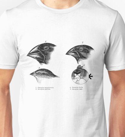 Darwin's angry birds Unisex T-Shirt