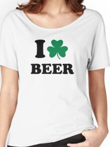I love beer shamrock Women's Relaxed Fit T-Shirt