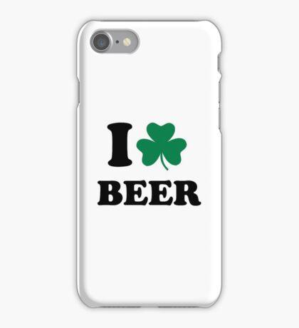 I love beer shamrock iPhone Case/Skin